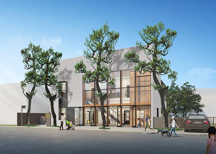 ロハスキッズ・センター  クローバー新園舎・イメージパース 平成30年4月開園